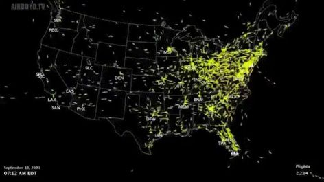 "Daniel Holland on Twitter: ""Air traffic above the US on September 11th 2001.  #WorldTradeCenter #911Anniversary… """