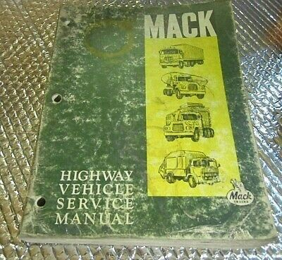 Sponsored)(eBay) Mack Trucks Highway Service Manual Repair