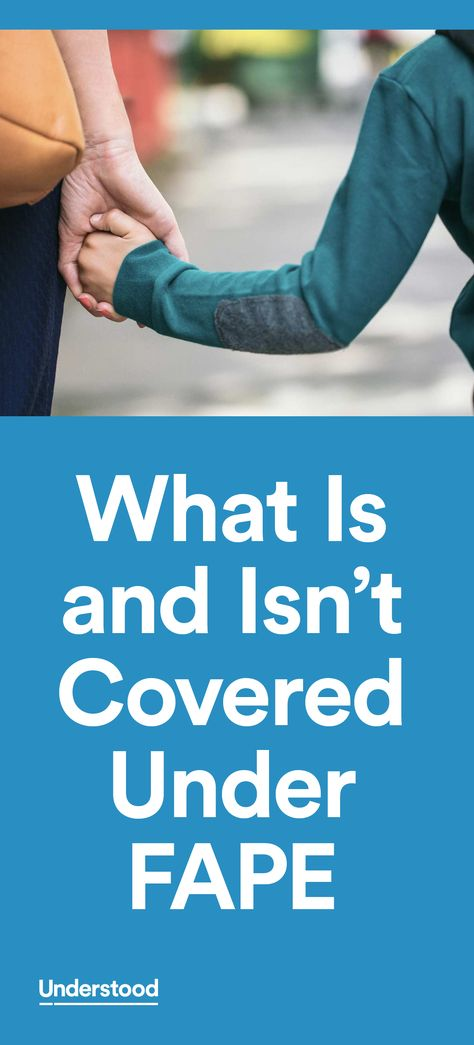 What is and isn't covered under FAPE
