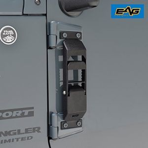 Eag Door Hinge Step Metal Folding Foot Pegs For Jeep Wrangler Jk