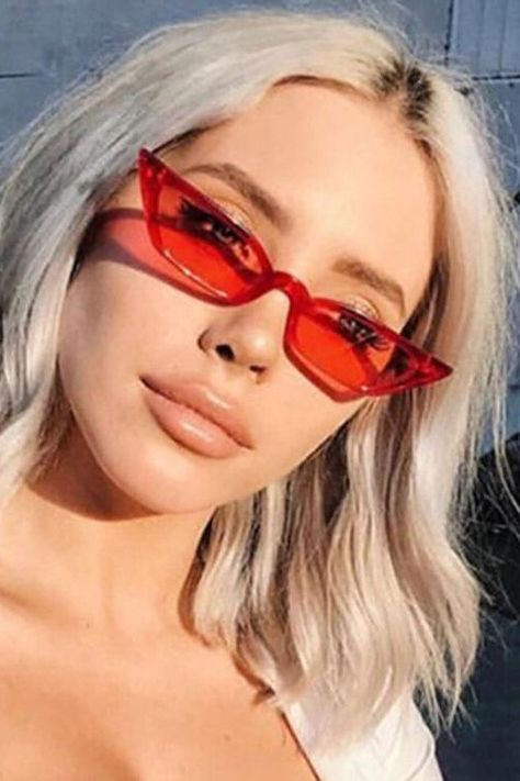 44c7f808ca9 Women s spring summer fashion casual outfits. 2019 trendy sunglasses cat eye.  Retro 1990s glasses.  spring  summer  style  fashionoutfits