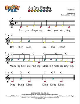 Boomwhackers Sheet Music Simple Series 2 Boomwhacker Pak 10