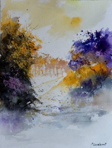 Buy Path To Ferage A Watercolor Painting On Paper By Pol Ledent