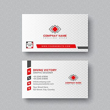 White Business Card Design With Pattern White Business Card Design Printing Business Cards Visiting Card Design