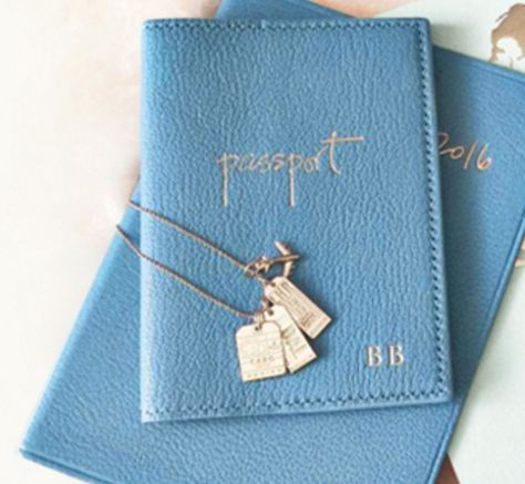 Blue, Goatskin Passport Case
