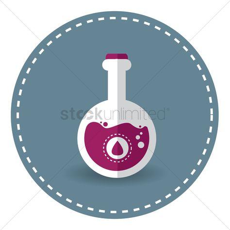 Magenta chemical liquid in flask stock vector , #Ad, #liquid, #chemical, #Magenta, #vector, #stock #affiliate