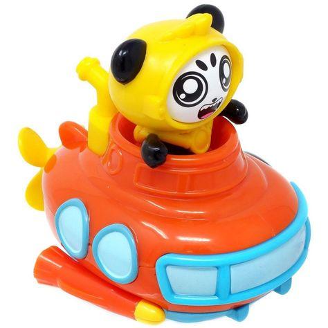 Pocket Watch Ryan's World Racer Combo Panda's Submarine 3.5-Inch Vehicle
