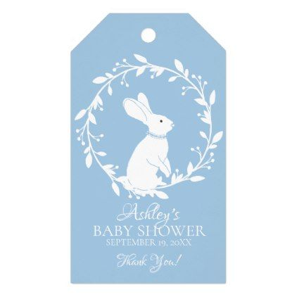Bunny baby shower favor gift tag negle Image collections