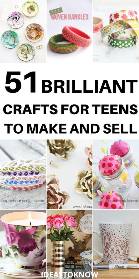 51 Brilliant Crafts For Teens To Make And Sell