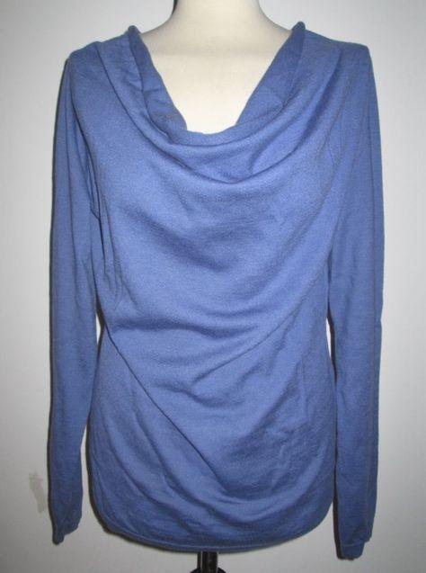 * * * FFC Wolle-/Seidenpullover blau, Gr.L * * * | eBay