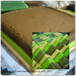 Dapursheryl Triple Triangle Cake Kue Lapis Bolu Pandan Kue Lezat