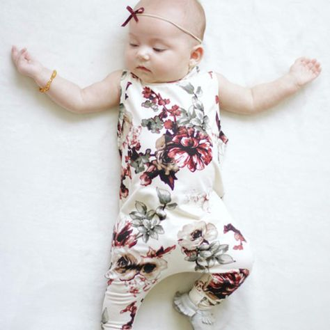 Fall Winter Baby Pajamas Gown Girls Boy Floral Print Swaddle and Cap,2Sets