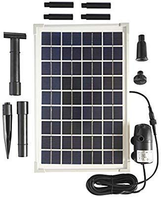 Amazon Com Solar Water Pump Kit 200gph With 12v Submersible Water Pump And 10 Watt Solar Panel For Diy Solar Powered Solar Water Pump Solar Water Hydroponics