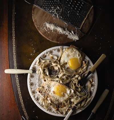 Brown Butter Pasta with Poached Eggs | Saveur