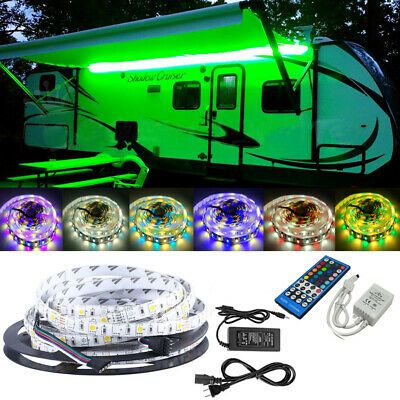 Sponsored Ebay Rv Awning Camper 12ft Rgb Ww Color Changing Led Strip Light Kit Dual Lights Led Strip Lighting Color Changing Led Strip Lighting
