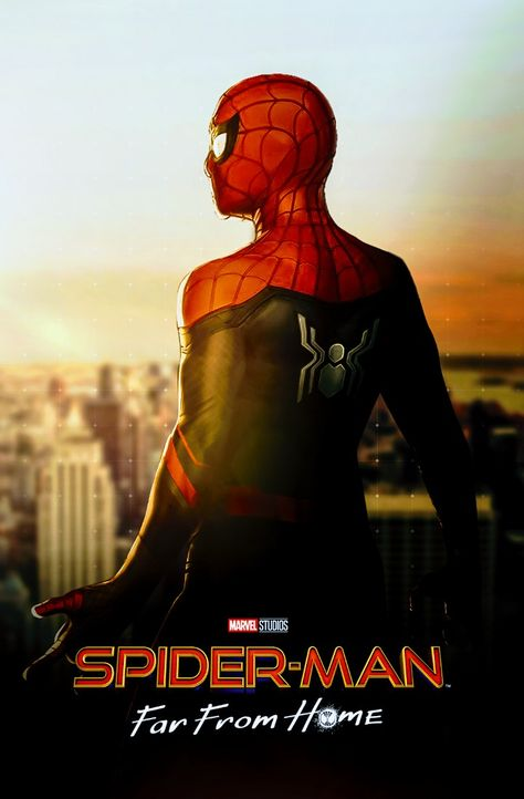 """Spider man Far From Home Movie Poster 24x36/"""" 27x40/"""" 32x48/"""" Japanese Art Print"""