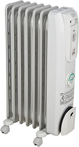 New Delonghi Oil Filled Radiator Space Heater Quiet 1500w Adjustable Thermostat 3 Heat Settings Energy Saving Safety Features Nice Home Pets Kids Light G In 2020 Oil Filled Radiator Portable Heater