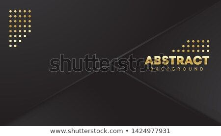 Modern Abstract 3d Background With Black And Gold Paper Layers