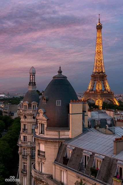Sunset In Paris France City Aesthetic, Travel Aesthetic, Tour Eiffel, Places To Travel, Places To Go, Travel Things, Time Travel, Travel Movies, Travel Trip