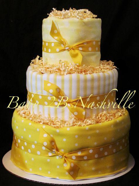 Yellow Diaper Cake