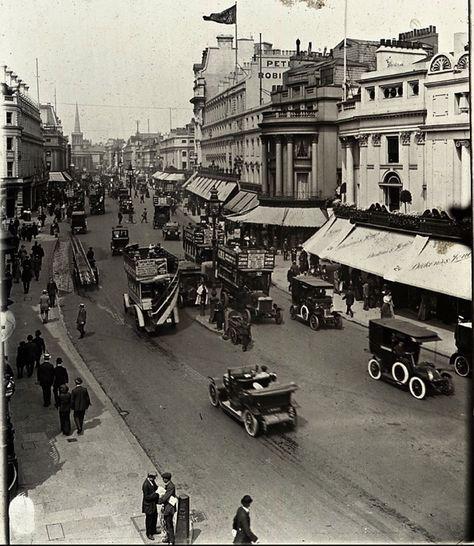 Regent St, 1920. The Shops of Old London ++ http://spitalfieldslife.com #glassslides