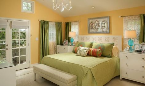 Modern What Color Curtains Go With Yellow Walls