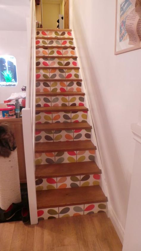 Just had to share my Orla Kiely stairs with you - I am in love!! x AFTER: pinned with Pinvolve