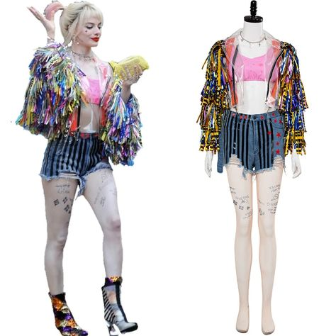 Harley Quinn Birds of Prey (And the Fantabulous Emancipation of One Harley Quinn) Cheerleader Outfit Cosplay Costume