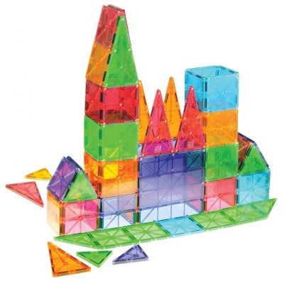 Magna Tiles 100 Piece Clear Colors Set Magna Tiles Tiles Color