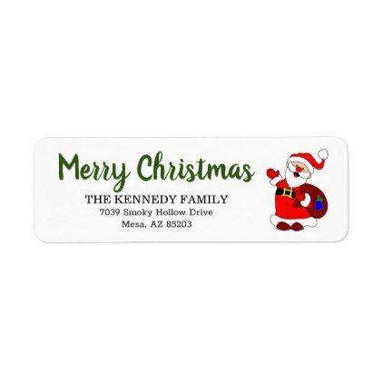 Holiday Address Stamp Santa Address Stamp Christmas Card Stamp Christmas Stamp Custom Christmas Stamp Christmas Return Address Stamp