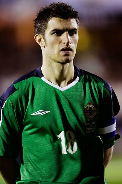 A Portrait Of Aaron Hughes Of Northern Ireland Prior To The