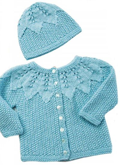 Baby Cardigan And Hat Knitting Pattern Free Knitting For Baby