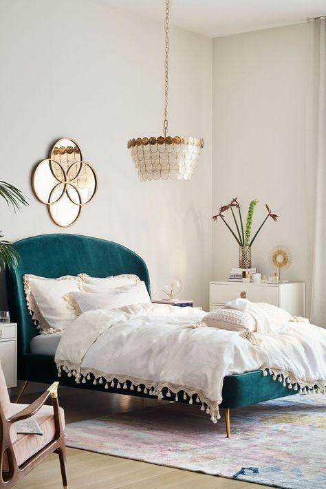 Slide View: 4: Tasseled Linen Duvet Cover Master bedroom
