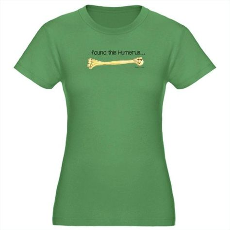 I found this Humerus Funny Womens Fitted T-Shirt dark by CafePress - L Kelly Green