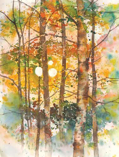 Creating A Backlit Watercolor Landscape Watercolor Paintings