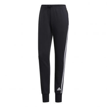 adidas Essentials 3S joggingbroek dames black white ...