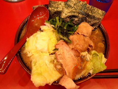2012 5 29 吉村家 横浜 麺固めキャベツトッピング キャベツ 麺 吉村