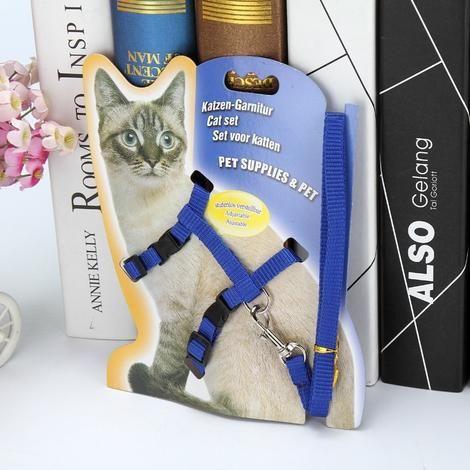 Buy Adjustable Cat Leash With Harness Set No Escape Cat Leash