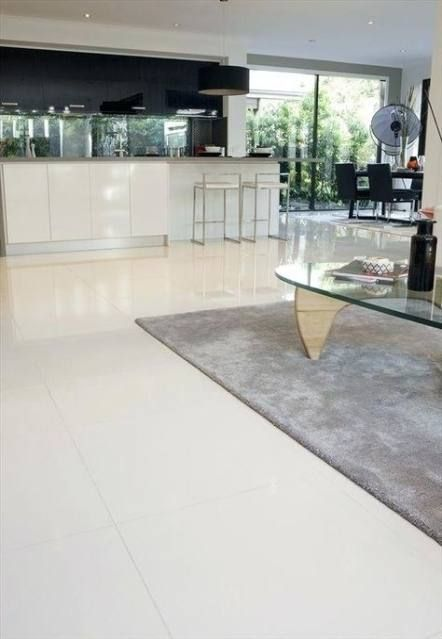 Trendy Kitchen Tiles Cream Floors Ideas White Tile Floor White Tile Kitchen Floor Living Room Tiles