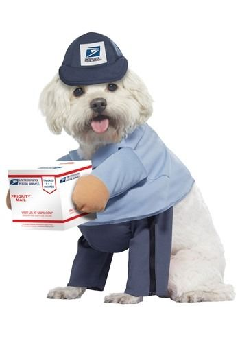 Usps Mail Carrier Costume For Dogs Sponsored Mail Spon Usps