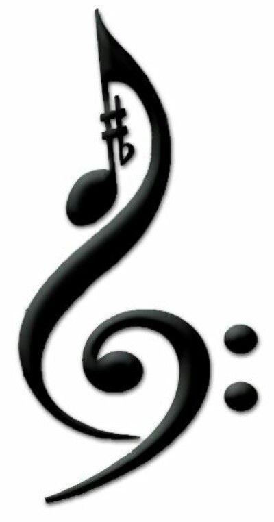 Music Symbol Treble Cleff Decoracao Musical Tatuagem Musica