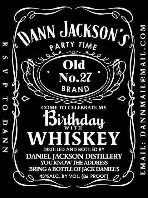 Invitación Para Fiesta Tipo Jack Daniels Editable E Por