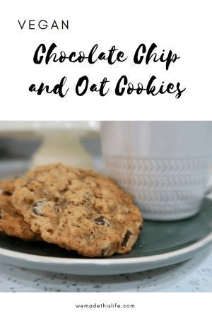 Vegan Chocolate Chip And Oat Cookies