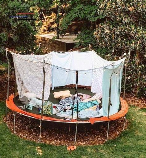 IF YOUR kids haven't used their trampoline in years, you may be planning to take it to the dump as soon as lockdown's over. Sleepover Room, Fun Sleepover Ideas, Sleepover Activities, Trampolines, Summer Nights, Summer Vibes, Summer Fun, Trampoline Tent, Cute Date Ideas