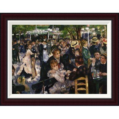 Global Gallery Bal Du Moulin De La Galette By Pierre Auguste