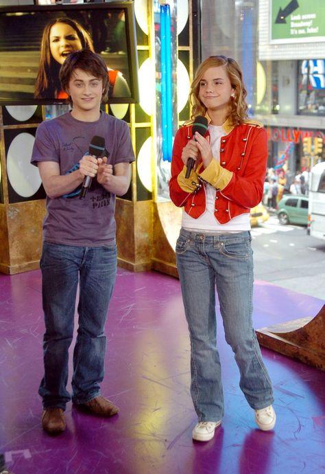 Emma Watson in 2004, With Daniel Radcliffe