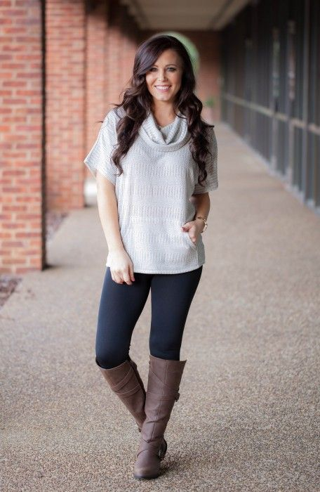Knit Cowl Neck Top from Southern Sophisticate Boutique and Blowfish Shoes knee high boots!