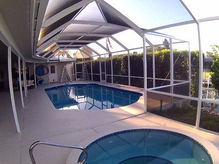 Pool Cage Rescreen Pool Cage Patio Rescreening Repair With Images Pool Cage Pool Patio