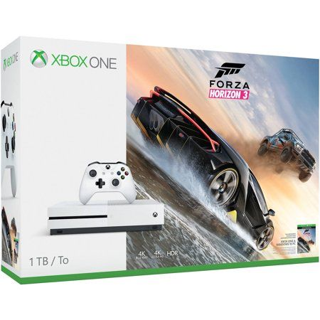 Refurbished Microsoft Xbox One S 1tb Forza Horizon Bundle White 234 00105 Walmart Com Xbox One S 1tb Xbox One S Forza Horizon