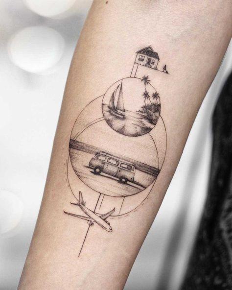 Tattoo idea for a traveler
